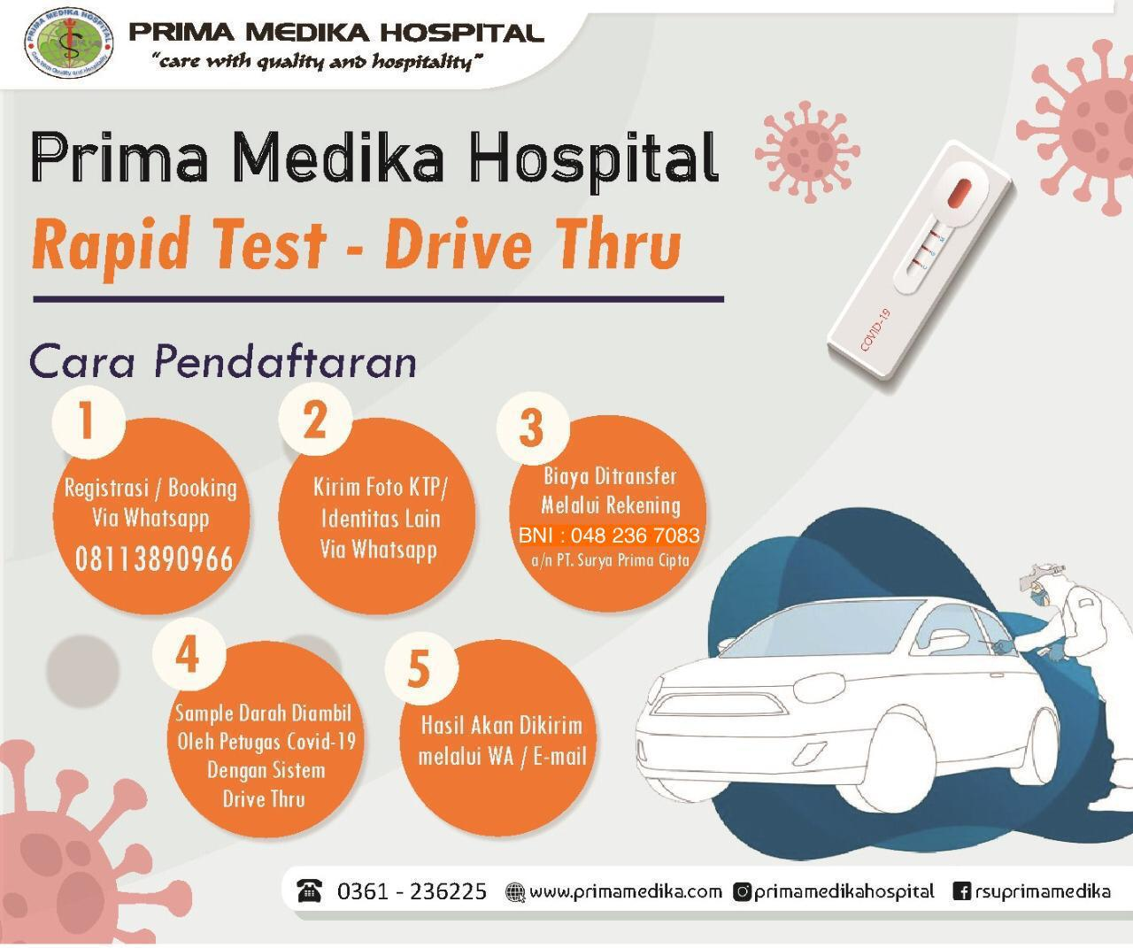 ​​​​​​​DRIVE THRU RAPID TEST PRIMA MEDIKA HOSPITAL