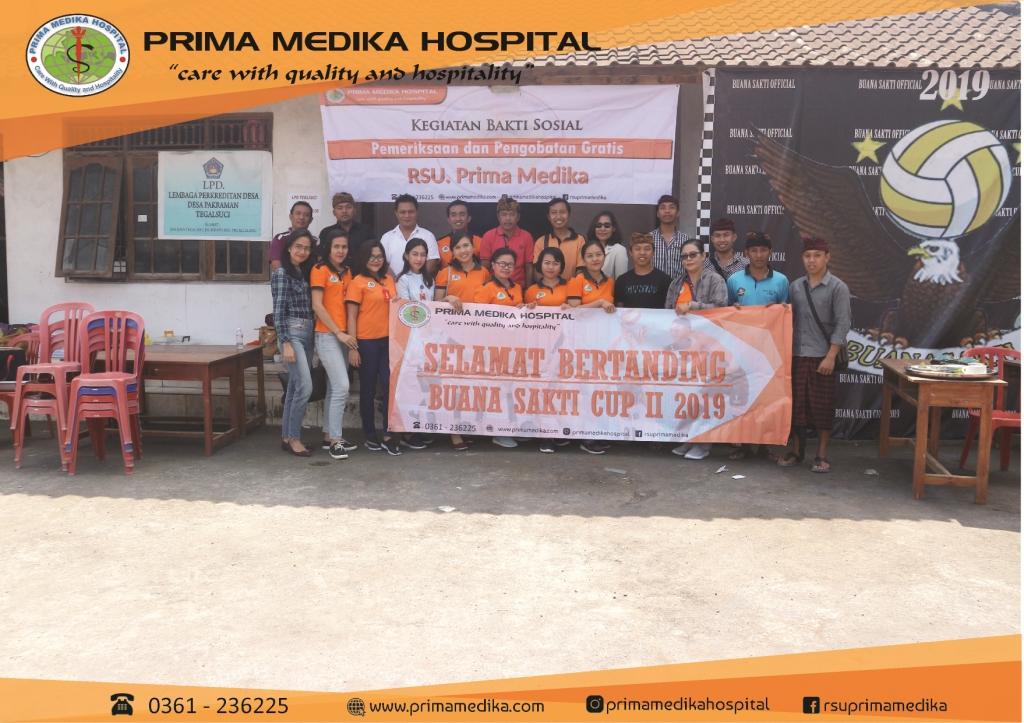 """kegiatan bakti sosial """"Pelayanan Kesehatan Gratis"""" bersama STT Gadha Kumara, Tegalalang, Gianyar"""
