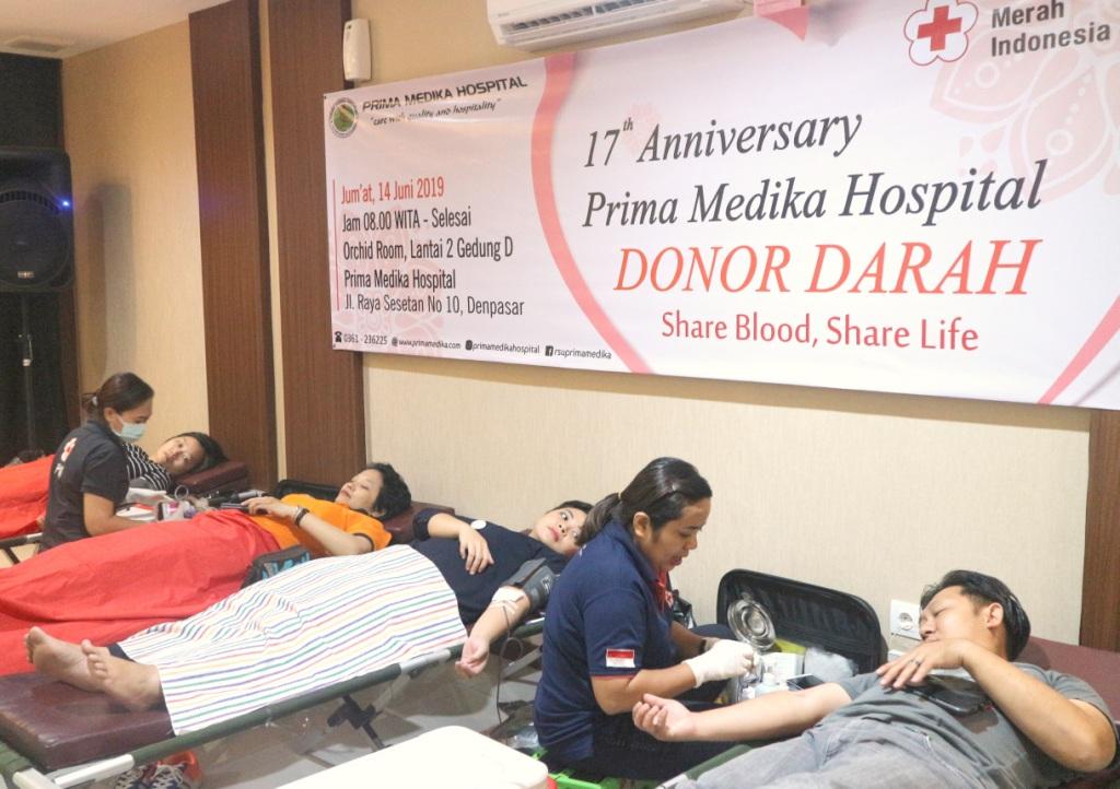Menyambut Hut ke-17, Prima Medika Menggelar Donor Darah Bersama PMI Provinsi Bali