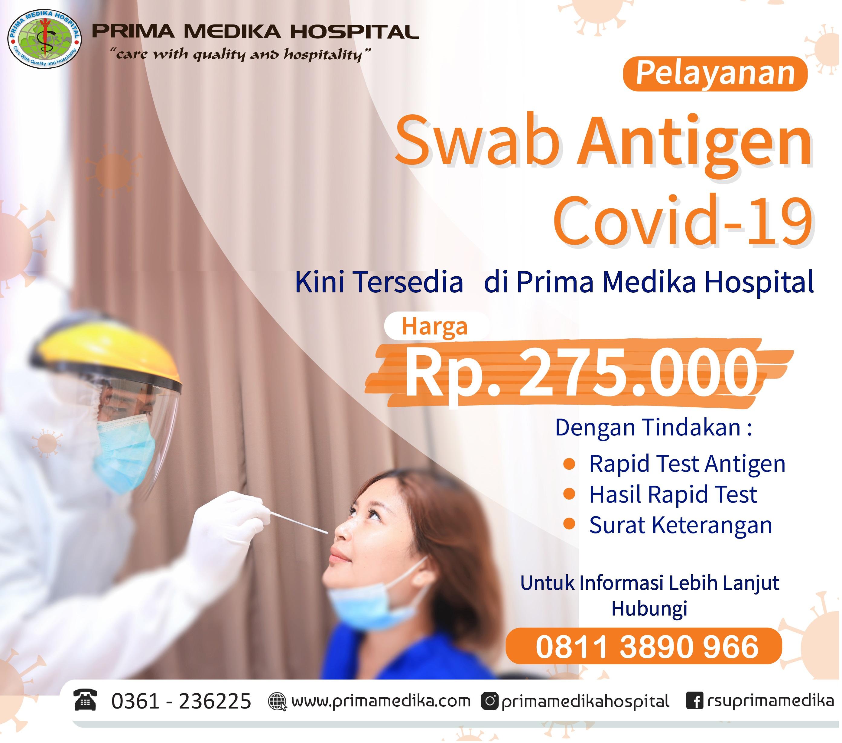 Pelayanan SWAB Antigen Prima Medika Hospital