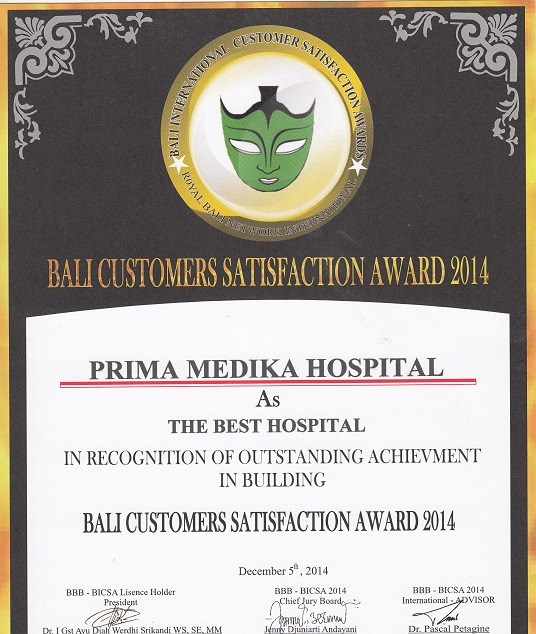 The Best Hospital - Satisfaction Award Achievment in Building